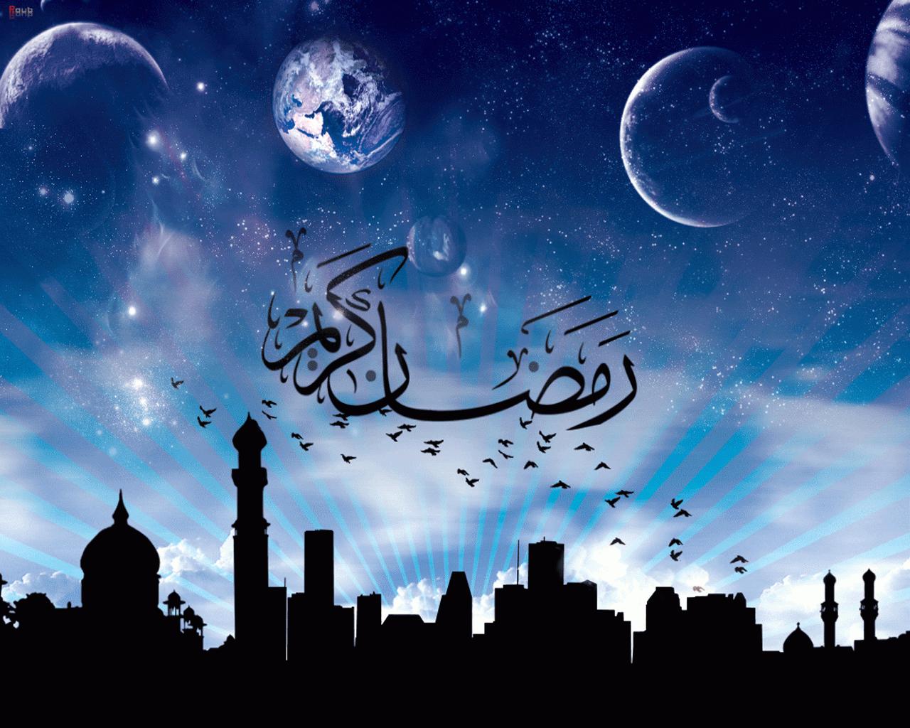wallpaper kartun ramadhan
